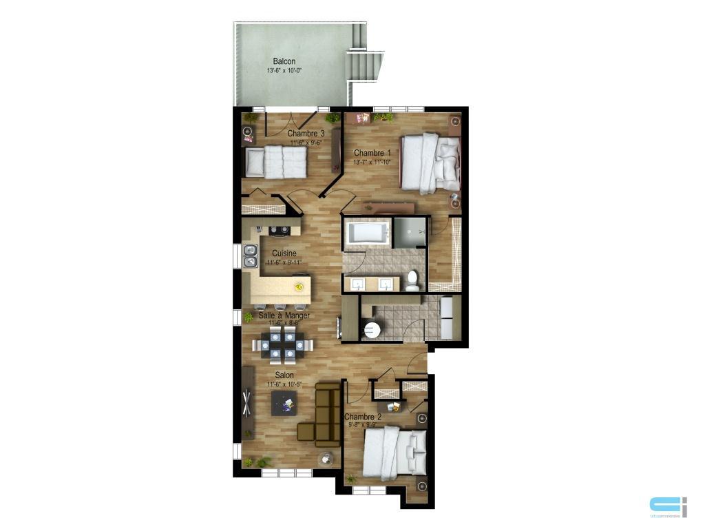 plan 2d urbanimmersive. Black Bedroom Furniture Sets. Home Design Ideas